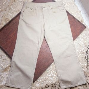 Lucky Brand Easy Rider Ankle Crop Khaki 10/30